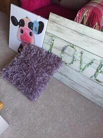 Two new pictures and mauve cushion