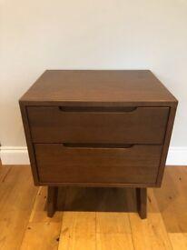 Made Jenson Bedside Table in Dark Stain Oak RRP £249