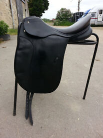 "Passier 17.5"" Patron dressage saddle, medium width, black"