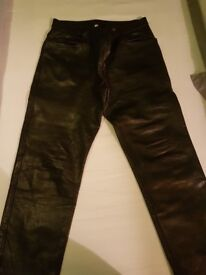 Leather trousers