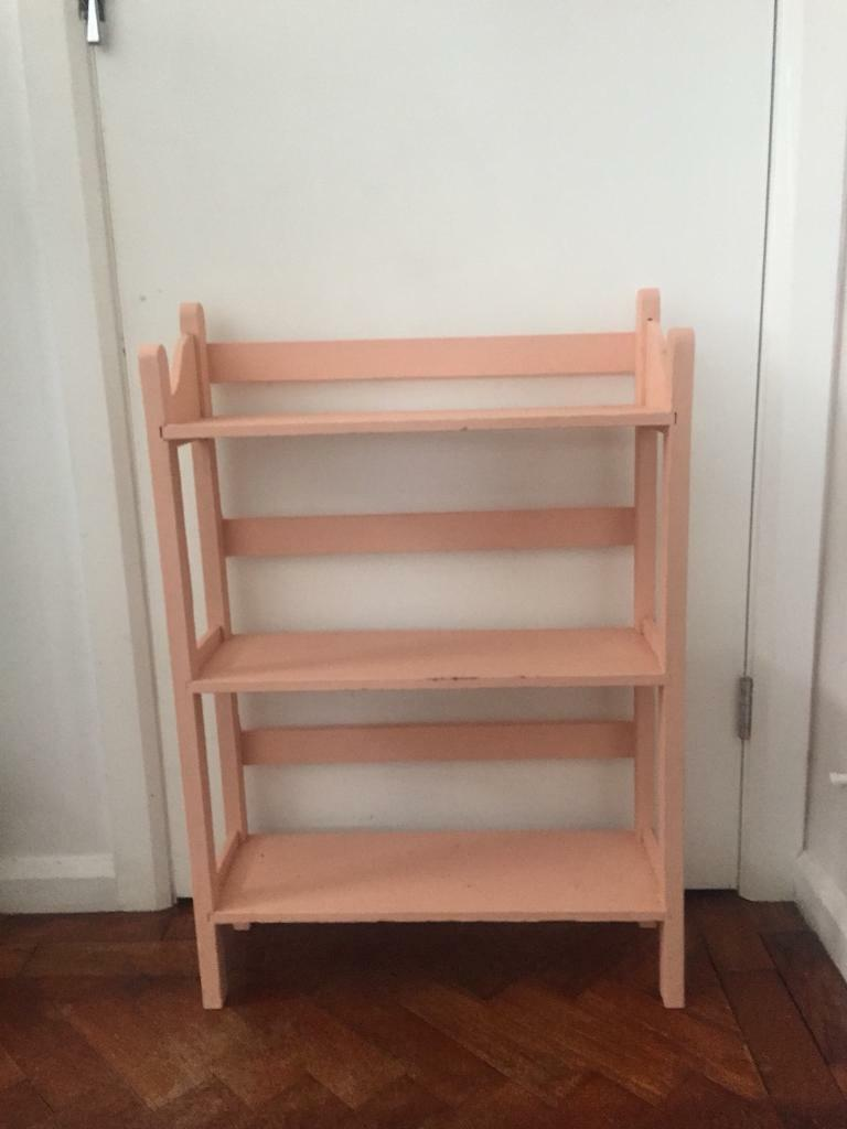 Shabby chic chalk painted vintage shelves