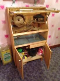 Hamster cage/deluxe cabinet