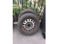 Mini Steel wheels 2 of with matching Very good tyres