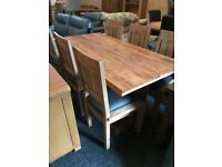 New solid large table -£189,,new solid wood chairs-£45 each