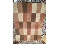 Brown beige patchwork rug