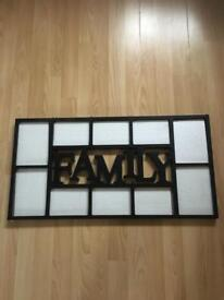 PHOTOFRAME 'FAMILY ' -WALL HANGING (10 pic's)