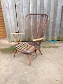 Ercol Windsor High Back Easy Chair. Easy restoration project? Retro Vintage Mid Century