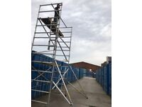 Instant folding alloy scaffold tower 6:2m