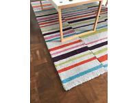 Striped wool rug