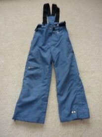 Trespass Airforce blue salopettes age 5/6