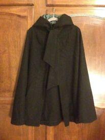 Vintage Peter Robinson black wool cloak