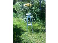 Plant or vase stand for indoor use. Cream in colour ideal shabby chic project.