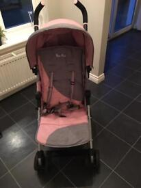 Silver Cross Pop Stroller Grey/Pink