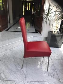 Leather Dining Chair X4 £20 each!