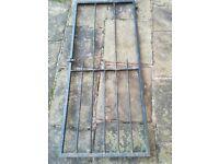 Steel security garden gate
