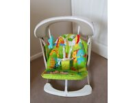 Used, great condition-Fisher price rainforest take along swing and seat
