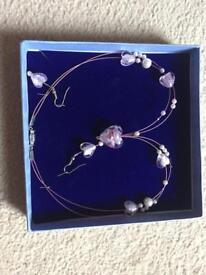 Ladies necklace and earring set