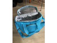 Blue picnic bag