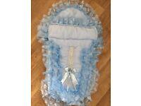 Baby blue footmuff