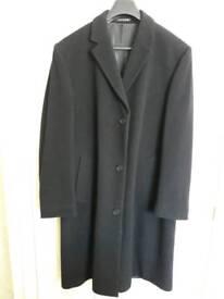 Men's black overcoat