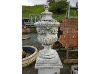 A pair of gates finials with bases urn