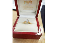 1CT Diamond Engagement ring (Size J)