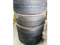 SAAB alloys 17 with new bridgestone tyres