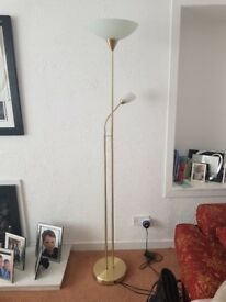 Gold Uplighter/ Floor Lamp: Mother and Child style