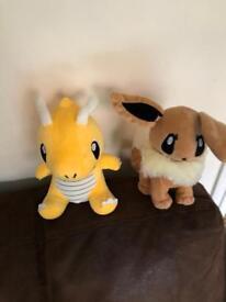 2 Pokemon soft toys
