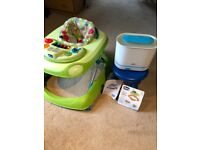 Chico Band Baby Walkers and Philips Avent 3 in 1 Steriliser