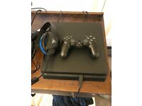500GB PS4 Slim with Turtlebeach headset
