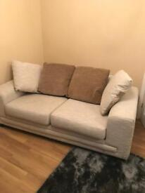 3 seater sofa bed and 2 seater sofa - beige