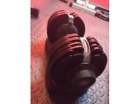 £600 Worth of Gym Equipment - Selectable Dumbbells, Bench, Weights, Squat/Bench Rack