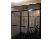 Metal mesh caging with doors. please see photo for sizes, paid around £800.