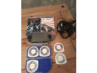 SONY PSP + GAMES AND CASE