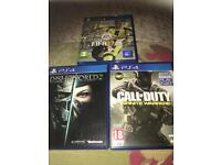 2 Ps4 games and turtle beach headset