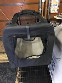 Folding fabric travel cage