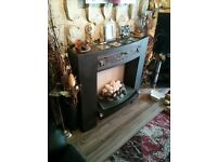Electric Fire ( 2 Kw ) With Fireplace And Black Surround