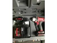 FACOM CL3.C10J 10.8V DRIVE IMPACT WRENCH. In case with 2 X batteries & multi volt charger
