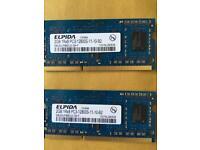 Elpida Apple Mac Mini Computer Memory ddr3 sdram 2x2gb 4gb 1600mhz