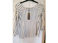 Boohoo stripped top size 16