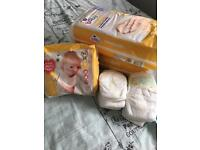 Newborn and size 2 nappies