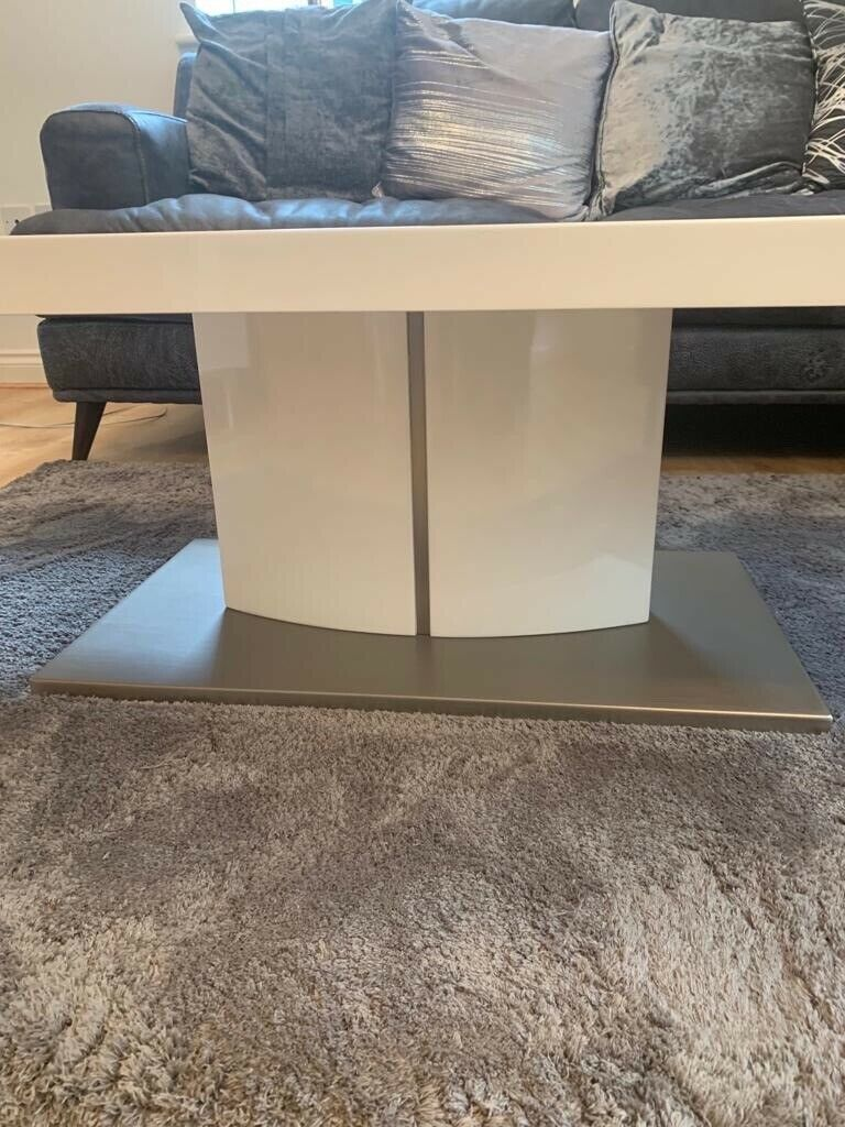 Whitegrey Gloss Coffee Table From Furniture Village Cost 249 New In Sunbury On Thames Surrey Gumtree