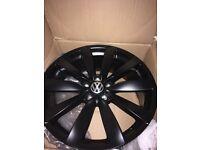 Genuine dull black VW alloys