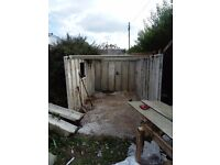 Concrete garage £200 needs a roof 200 negotiable dismantled for collection