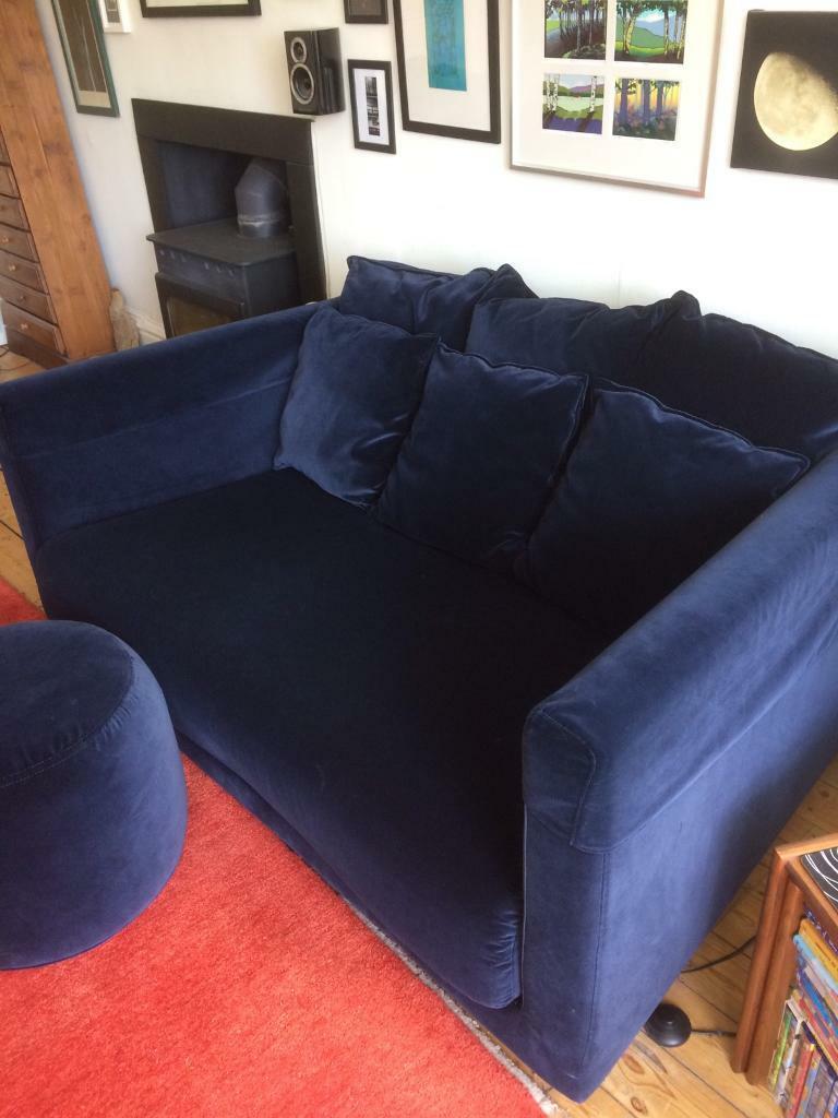 Fabulous Ikea Stockholm 2 Seater Sofa Blue Velvet Excellent In Dundee Gumtree Interior Design Ideas Ghosoteloinfo