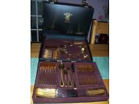 70 PIECE GOLD PLATED CANTEEN of CUTLERY. [ Never been used ]