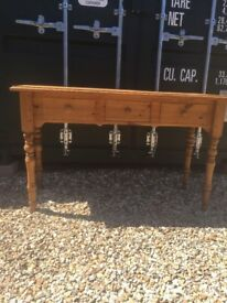 Pine Console Table in Great Condition