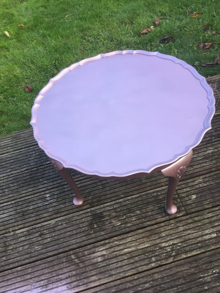 Upcycled pie crust table