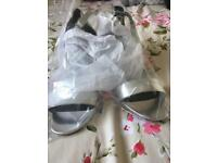 Brandnew with tags silver block shoes